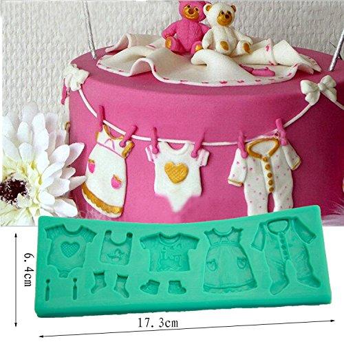 tangchu Fondant Cake Lace Form Baby Wäscheleine Silikon Formen Kuchen dekorieren 17,3x 6,4x 0,8cm grün