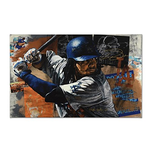 Manny Ramirez Hand Signed Giclee by Stephen Holland OA Boston Red Sox LA -