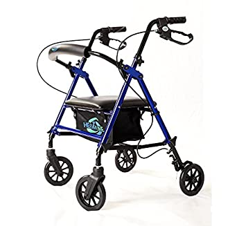 Pleasing Lightweight Rollator Walker With Seat And Brakes Super Light Rollator Lightweight Aluminum Walker With Seat And Basket Brakes 6 Wheels Easy Bralicious Painted Fabric Chair Ideas Braliciousco