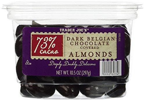 Trader Joe's 73% Cocao Dark Belgian Chocolate Covered Almonds Dark Chocolate Almonds