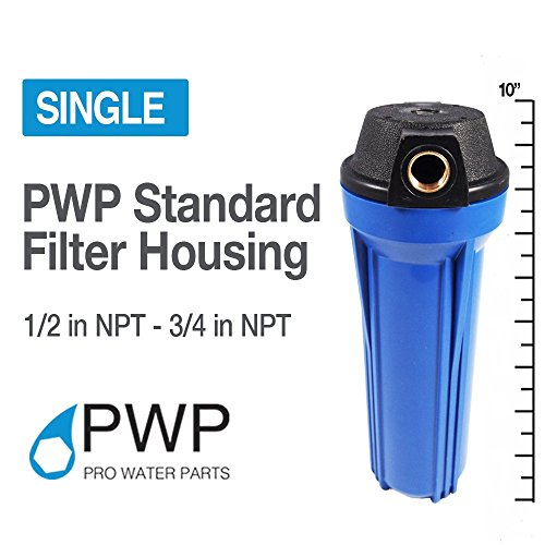 "PWP Blue Filter Housing 3/4"" NPT BrassPort Whole House RO/DI"