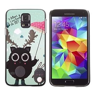iKiki-Tech Estuche rígido para Samsung Galaxy S5 - Cute Creatures Illustration