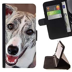 Momo Phone Case / Flip Funda de Cuero Case Cover - Greyhound Whippet Dog Racing mascotas; - HTC Desire 626