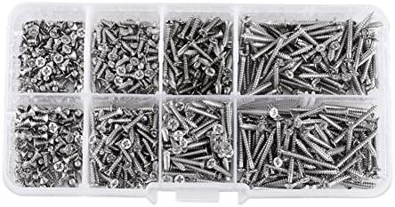 800 개의 M2 4는 자체 태핑 나사 납작한 목 지퍼 수 선 발명 대 상자가 / 800 pcs M2 Self Tapping Screw Flat Head Woodworking FastenerBox for Repair Invention