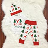 Baby Girl Boy Outfits My First Christmas Costume Clothes Set