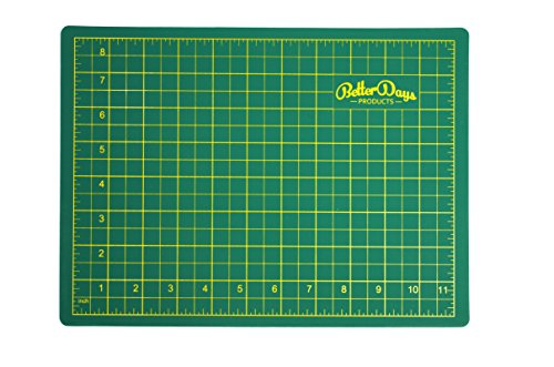 Rubber Cutting Tools (Self Healing Cutting Mat - Double Sided (Green/Blue) - Professional - 5 Layers - Rotary Blade Compatible - For Arts, Crafts, Sewing, Handmade - A4 (9x12 inch).)
