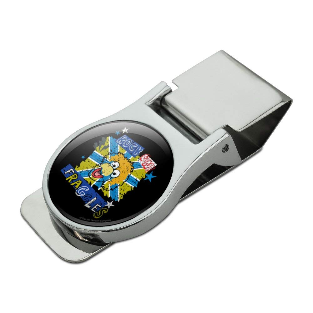 Rock On Fraggles Fraggle Rock Satin Chrome Plated Metal Money Clip