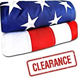 American Flag 3x5 ft - Heavy-Duty US Flag - Embroidered Stars - Nylon USA Flag Built for Outdoors - Sewn Stripes - UV Protection - Brass Grommets
