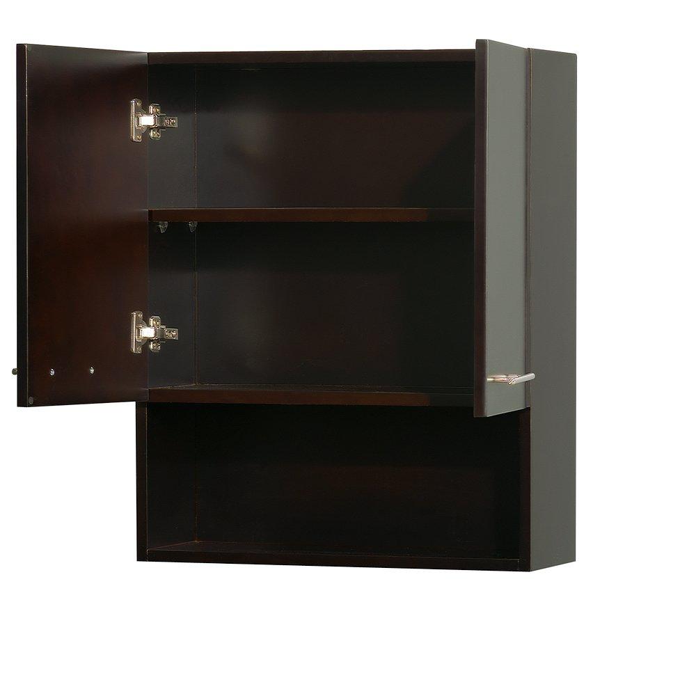 Amazon: Wyndham Collection Centra Wallmounted Bathroom Storage Cabinet  In Grey Oak (twodoor): Kitchen & Dining