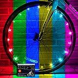 Activ Life - Luces LED para Rueda de Bicicleta con Pilas Incluidas. Visible Desde Todos los ángulos para máxima Seguridad y Estilo (1 Paquete de neumáticos)