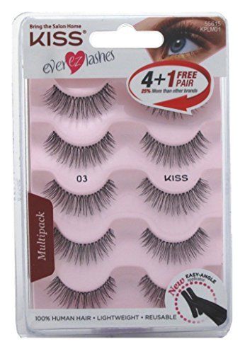 22ce7ebe99e Amazon.com : Kiss Ever Ez 03 Lashes 4 + 1 Pairs : Beauty