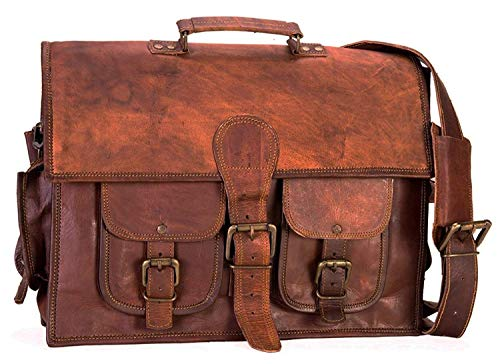 Znt Bags 15 inch Genuine Leather Laptop Office Messenger Bags
