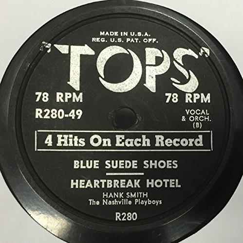 Bud Roman Hank Smith Scat Benny Blue Suede Shoes / Heartbreak Hotel 78 Vinyl Record - Heartbreak Hotel Top