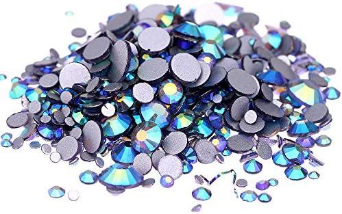 00941d12d3 Nizi Jewelry Crystal Non Hotfix Rhinestones Glass Gems Strass Nail Art  Decorations Tanzanite AB Color (ss20 1440pcs)