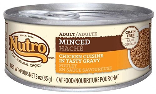 Nutro Grain Free Adult Minced Chicken Cuisine in Tasty Gravy Canned Cat Food by Nutro