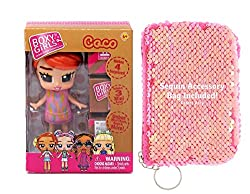 Sequin Purse and Doll Set for Girls