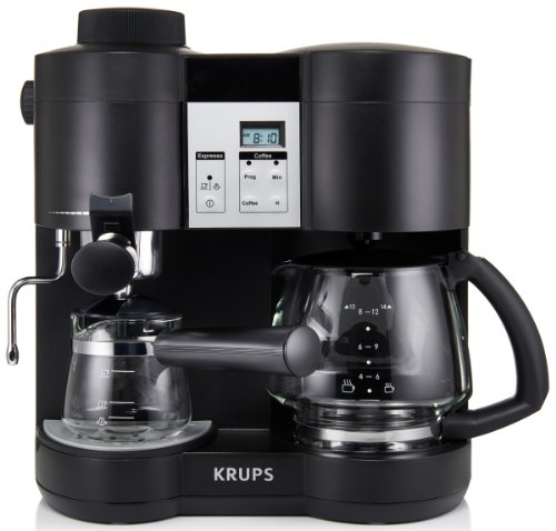krups xp1600 coffee maker and espresso machine combination black buy online in uae kitchen. Black Bedroom Furniture Sets. Home Design Ideas