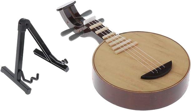Juguete De Laúd Madera De 1/6 De Yueqin Chino, Pantalla De Instrumentos Musicales De Casa De Muñecas, Figuras De Acción De 12 Pulgadas: Juguetes y juegos - Amazon.es