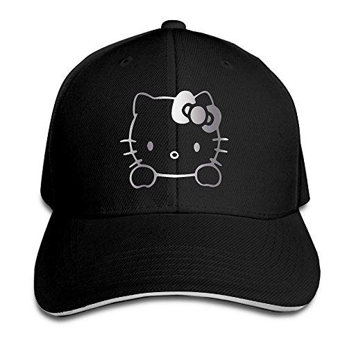 Hello-Kitty-Vinyl-Decal-Platinum-Logo-Men-Baseball-Cap-Sandwich-Peak