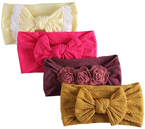 Nylon Baby Headband, Baby Girl Bows, Hair Accessories for Newborn Toddler Girls ()