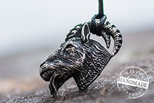- Goat Pendant Handmade Sterling Silver Necklace Animal Jewelry