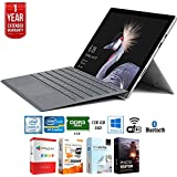 Microsoft Surface Pro (Intel Core i5, 8GB RAM, 128GB) w/ Platinum Cover + Elite Suite 17 Standard Software Bundle (Office Suite Pro, Photo Editor, PDF Editor, PCmover ) +1 Year Extended Warranty