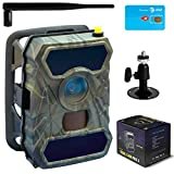 Trail Camera - CreativeXP 3G Cellular Trail Cameras | at&T WiFi Full HD Wild Game Camera with Night Vision for Deer Hunting, Security | Wireless Waterproof and Motion Activated | Tree Mount and Accessories Included
