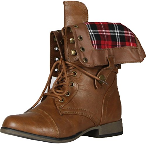Dbdk Sharper-1 Legend8 Elegante Avvio Da Donna In Ecopelle, Tan Plaid, 8.5