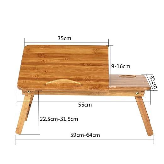Minmin Mesa plegable, escritorio de computadora de madera cama ...