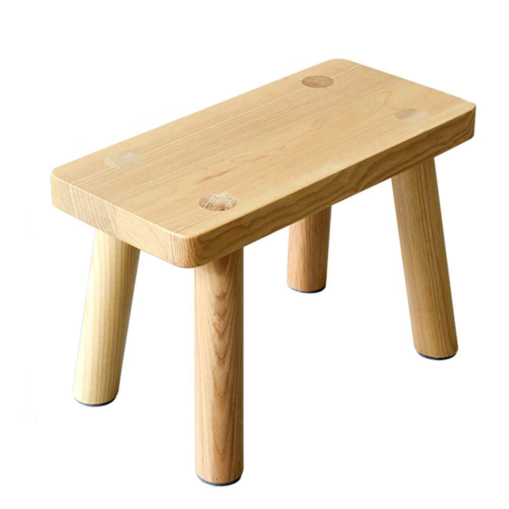 Hocker Arbeitshocker Sitzhocker Sitzbank Badhocker Fußbank Fußablage Schminktischhocker Klavierhocker Multifunktionshocker Duschhocker Kleiner Massivholz-runder