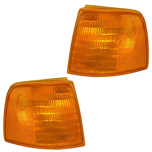Driver and Passenger Park Signal Side Marker Lights Lamps Replacement for Ford Pickup Truck F37Z 13201 A F37Z 13200 B Ranger Park Light Side Marker