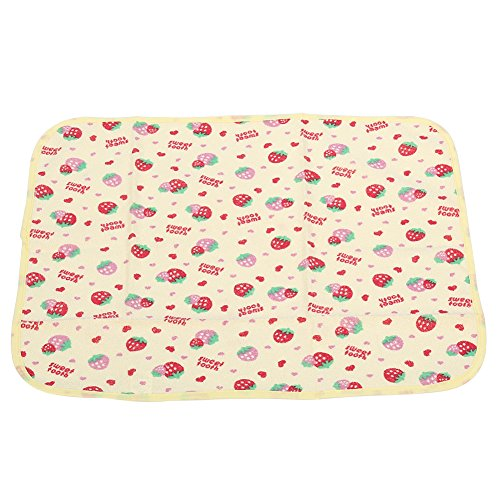 Disposable Pads Insert (Newborn Baby Large Size Changing Urinal Pad Infant Portable Waterproof Cotton Cloth Diaper Inserts Changing Mat for Girls Boys(Strawberry S))