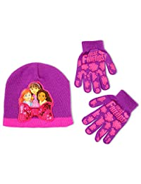 Nickelodeon Little Girls Dora and Friends Hat & Glove Cold Weather Set, Age 4-7