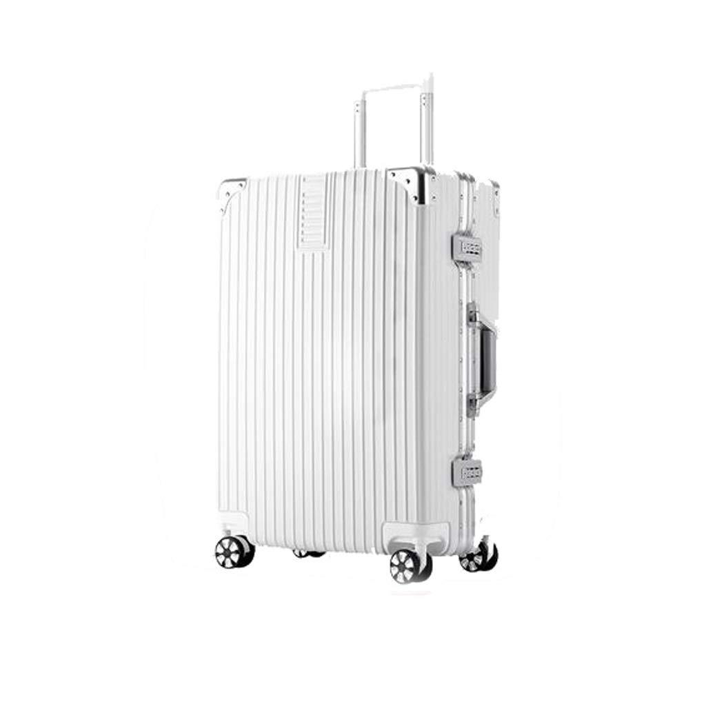 トラベラーズチョイス、ABS素材のトロリーケース、拡張可能なフロントオープニングデュアルサイクロンホイール、29インチ大容量荷物、パスワードボックス (Color : White, Size : 29IN) B07VK5P7C9 White 29IN