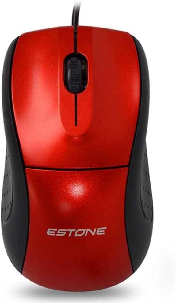 Rubber Side Grips Mechanical Switches M1 Elite Gaming Mouse: 1000 DPI Optical Sensor USB Gaming Mouse- Chroma RGB Lighting Red 3 Programmable Buttons