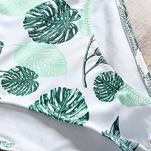 heißer Verkauf 2019 Damen Badeanzug Bademode Bikini Blatt drucken Nationaler Stil Swimsuit Bohemian Taille Sexy koordiniert Beachwear Stil Badebekleidung Einteiliger Geeignet für den Sommer Grün pMpQIipQ