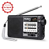 Battery Operated Portable Radio, PRUNUS J-01 AM FM Shortwave DSP Radio Analog Transistor Radio with Best Reception, Supports Micro-SD Card/TF Card