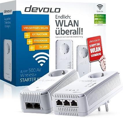 Devolo Dlan 500 Av Wireless Starter Kit Powerline Computer Zubehör