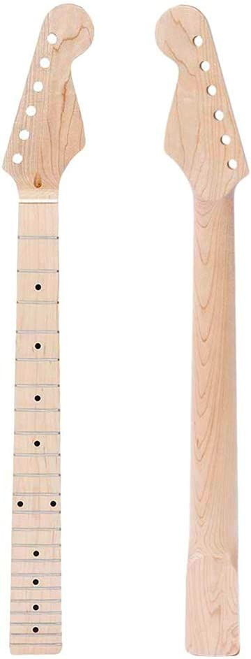Asdomo - Cuello para guitarra eléctrica Fender ST Strat 22 Fretboard de arce para guitarra eléctrica Strat Stratocaster