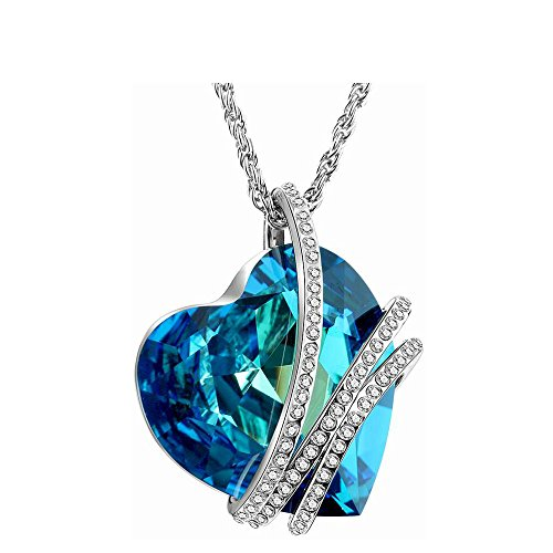 Fancystyle Necklaces Heart of the Ocean Pendant Necklace Made with Austrian Crystal for (Titanic Heart)