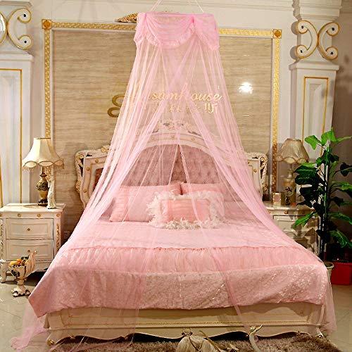 BMHFF Princesa Cama Dosel Mosquito Red cúpula con Elegante Volante de Encaje para niñas niños y bebé casa de Juego...