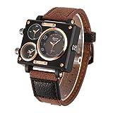Oulm 3595 Men's Watches Top Luxury Brand Unique Designer Fashion Leather Strap Japan Movt Quartz Watches
