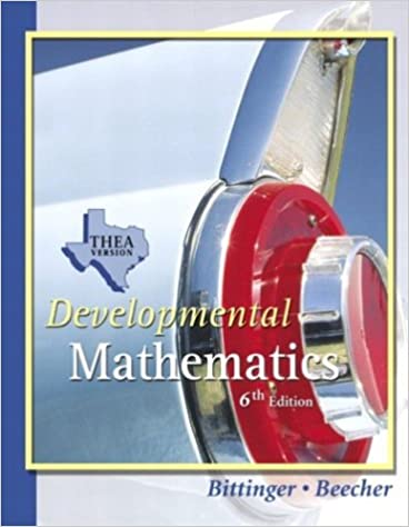 Developmental Mathematics THEA Update Version (6th Edition): Marvin
