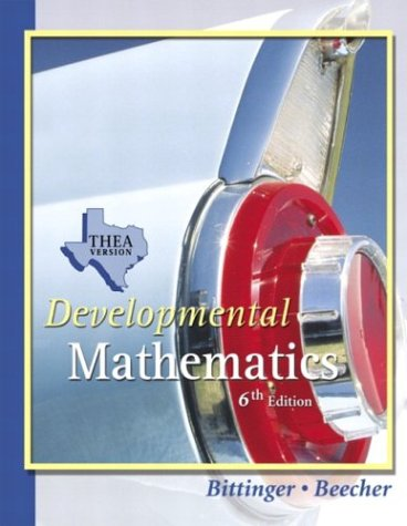 Developmental Mathematics THEA Update Version (6th Edition)