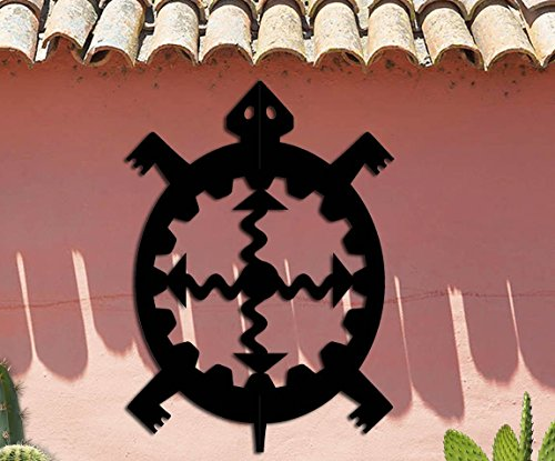 Turtle Symbol - Southwest Design - Home & Garden - Large (14 1/2 w x 20 h) Metal Art - Indoor - Outdoor