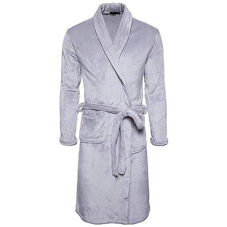DAFREW Batas para Hombres, Este es un camisón de Pijamas, Grueso Mantén el Calor