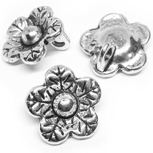 Double Happiness Diamond Ring (Heather's cf (65Pieces Silver Tone-Flower Buttons-Beads DIY Charms Pendants-12X12mm))