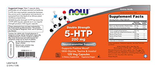 5-HTP 200 mg Now Foods 120 VCaps