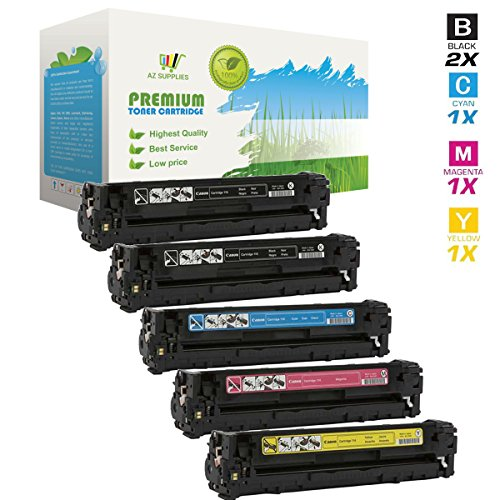 (AZ SUPPLIES Toner | 40% more Print Yield | 5-Pack Compatible with Canon 116 for Canon i-Sensys LBP5050N, MF8030CN, MF8050CN, MF8080CW, HP Color Laserjet CM1312nfi MFP, CP1215, CP1518ni, CP1515n)