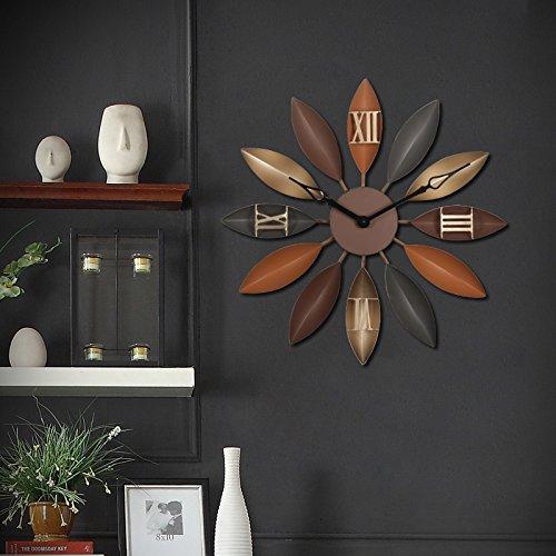 Brandream Creative Large Wall Clock Decorative Silent Metal Wall Clocks